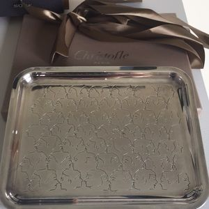 Christofle limited edition silver plate tray